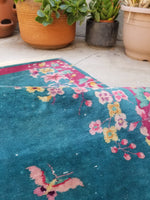 2'4 x 4'4 antique Chinese Art Deco Rug (#1327)