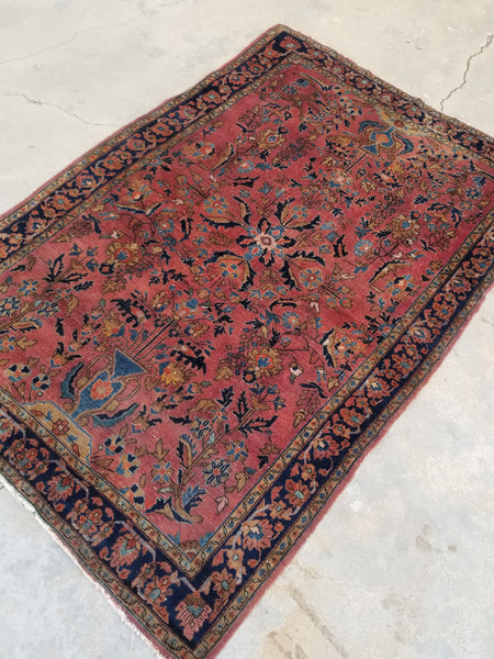 3'5 x 5' Antique Persian Sarouk (#1331)