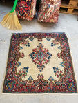 2'10 x 3' antique square Persian Kerman rug (#1341) at Anthropologie
