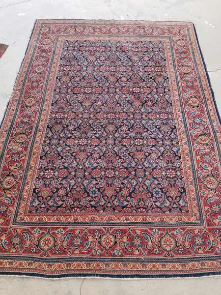 4'4 x 6'8 Antique Persian Tabriz Rug (#1342)