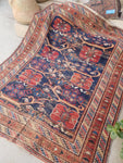 4'4 x 5'7 Antique square Persian Afshar Rug (#1468)