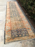 3'2 x 12'11 Antique Malayer Runner / Long Persian Runner
