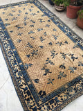 4'10 x 9'3 Antique Samarkand Rug