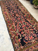 3'5 x 9'1 antique Persian Lilihan rug