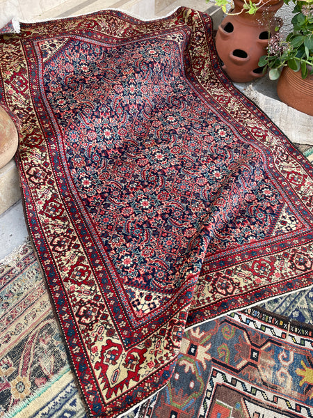 4'8 x 6'5 Antique Persian Tabriz rug (#1662) / 5x7 vintage rug