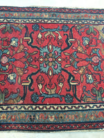 2'1 x 2'8 antique Persian Lilihan rug (#848ml)