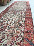 2'8 x 9'5 skinny Antique Kurdish Runner (#1032A)