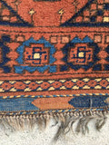 2'9 x 4'3 Antique afghani rug  (#851ml)