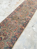 2'6 x 9'10 skinny antique Persian Kerman runner (#849ML)