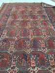 6 x 9'2 Antique Paisley Persian Afshar Rug (#1043ML)