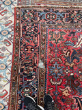 6'8 x 9'10 Antique Persian Heriz (#1572) / 7x10 vintage Rug