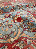 12'8 x 14'1 Antique Persian Doroksh Rug (#1571)/ 13 x 14 Large vintage rug