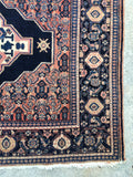 4'6 x 6'1 Antique Persian Senneh rug (#462)
