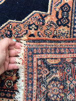 4'6 x 6'1 Antique Persian Senneh rug