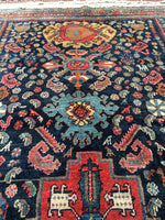 4'3 x 6'10 Jewel Antique Persian Malayer
