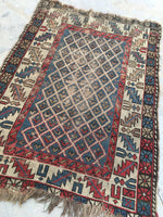 3'6 x 5'2 Antique Caucasian Rug