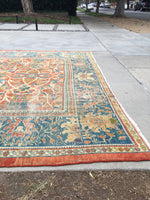 9'2 x 11'10 Antique 19th Century Persian Sultanabad Mahal