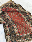 3'5 x 5'8 Antique Kurdish Rug / small vintage rug (#723)