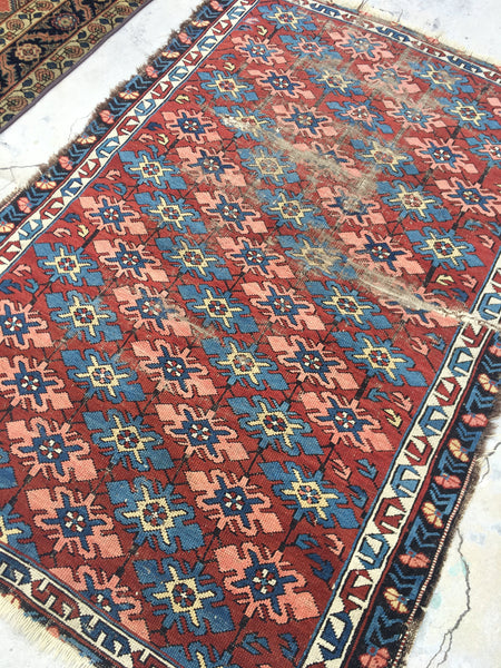 3'5 x 5'1 Antique Caucasian Kuba Rug
