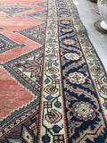 3'9 x 10'7 Antique Persian Malayer Runner (#460)