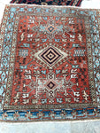 3'8 x 4'1 antique Persian Heriz (#1096ML) / 3x4 vintage rug