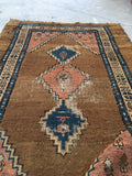 2'6 x 4' Antique Persian Camel Hair Rug