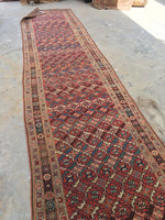 3'6 x 14 Antique Kurdish Runner