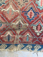 3'1 x 4'5 antique Caucasian rug / small vintage rug