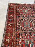 3'3 x 4'5 Antique Persian Heriz (#735) / 3x5 Vintage Rug