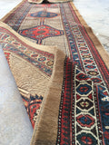 3'2 x 16'2 Camel Hair Serab Runner / Antique Rug Runner
