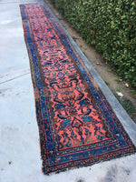 2'8' x 17'9 Antique Persian Lilihan Runner / Long vintage runner / long rug runner