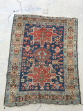 3' x 4'1 Antique Heriz / Small Vintage Rug