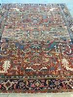 7'8 x 10' antique Persian Heriz / Large vintage rug