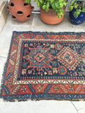 3'7 x 9'7 antique Persian Heriz Runner (#743)