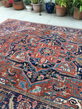 8'4 x 11'4 Antique Persian Heriz / Large vintage rug