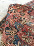 3'7 x 6'3 worn antique Persian Malayer
