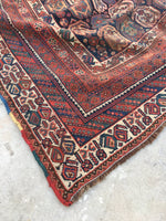 5'10 x 9' antique Shiraz Tribal wool rug (#867)
