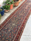 2'11 x 12 worn antique Persian runner