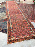 3'10 x 16'5 dated antique Persian rug (#873)