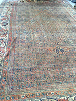 12 x 18 Mashhad Rug / Oversize Persian Rug / Worn to Perfection Rug