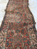3'2 x 17' Antique Persian Heriz Serapi Runner / long vintage runner / Persian rug runner