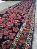 3' x 19' Antique Persian Lilihan Runner / long vintage runner / Persian rug runner