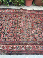 5'2 x 9'8 worn antique Persian Hamadan Rug (#871)