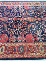8'8 x 12' antique Persian Sutlanabad Mahal