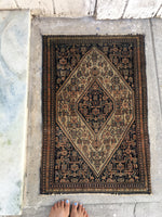 2 x 3'1 Antique Senneh / Small Persian Rug