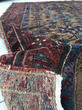 3'9 x 6'2 Antique Persian Malayer / Small Vintage Rug