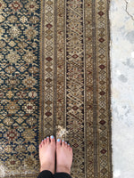 4'2 x 6'5 Chi Chi Rug / Antique Caucasian Rug / Small Rug