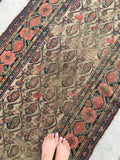 3'5 x 15' Antique Persian Malayer Runner / long vintage runner / 15' rug runner
