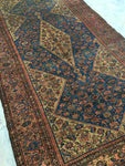 5'2 x 9'4 Antique Persian Ferahan Sarouk / Large Vintage Rug