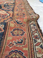 3'8 x 7'2 antique Kurdish rug / 4x7 vintage rug